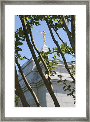 Raleigh Nc Lds Temple Framed Print by Nathanael Verrill