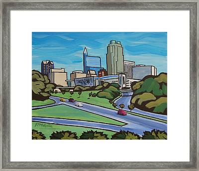 Raleigh Skyline 2 Framed Print
