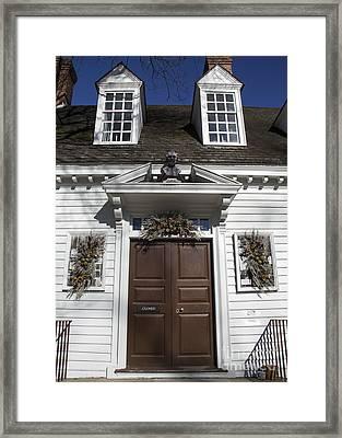 Raleigh Tavern Framed Print
