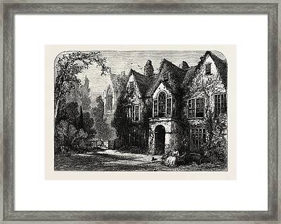 Raleighs House At Youghal Framed Print