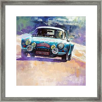 Rally Monte Carlo 1972 Alpine-renault A110 1600  Framed Print