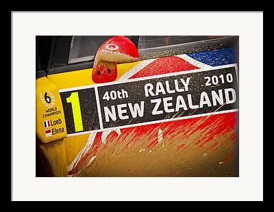 Rally New Zealand Framed Prints
