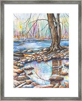 Ralph Stover Park In The Spring Framed Print