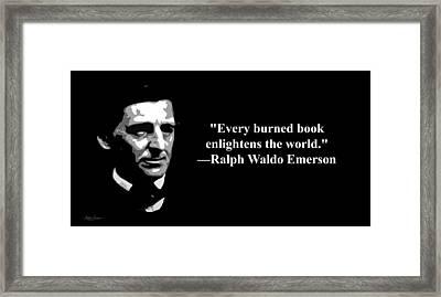 Ralph Waldo Emerson On Censorship  Framed Print