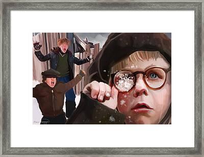Ralphie Snaps Framed Print