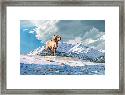 Ram And Electric Peak Framed Print by Paul Krapf