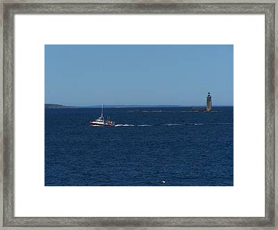 Ram Island Ledge Light Framed Print by Gene Cyr