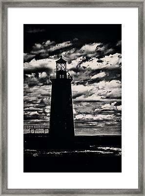 Ram Island Ledge Light Framed Print by Karol Livote