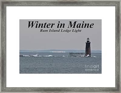 Ram Island Ledge Light_9941 Framed Print by Joseph Marquis