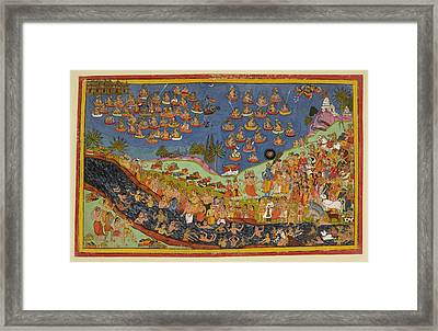 Rama Enters Heaven Framed Print