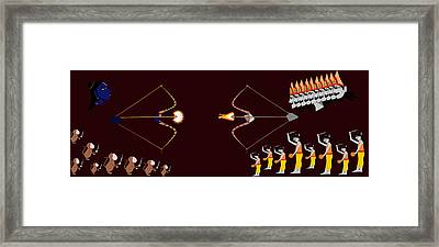 Rama Ravana War Framed Print