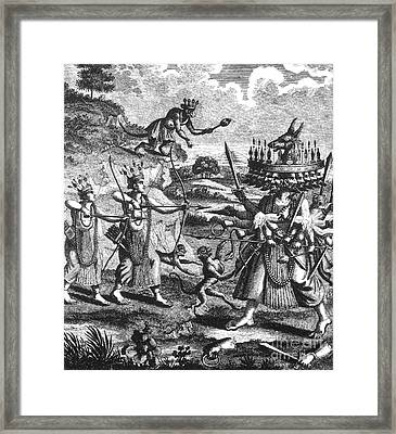 Rama, Seventh Avatar Of Vishnu Framed Print by Photo Researchers
