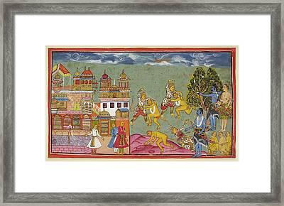 Rama Shoots Bali Framed Print