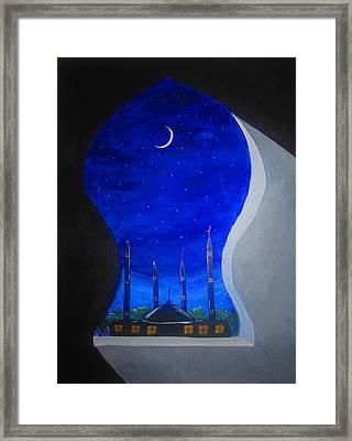 Ramadan Moon Framed Print by Haleema Nuredeen