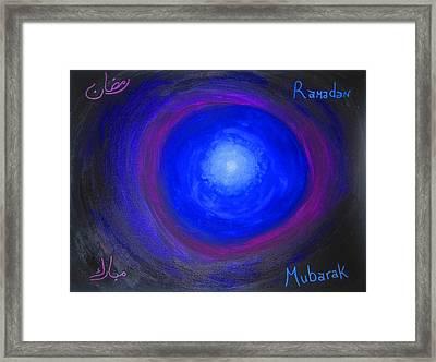 Ramadan Mubarak Framed Print by Haleema Nuredeen