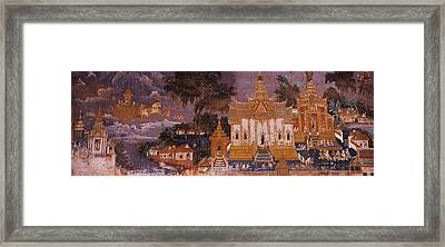 Ramayana Murals In A Palace, Royal Framed Print by Panoramic Images