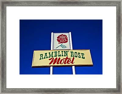 Ramblin' Rose Motel Framed Print