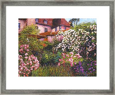 Rambling Rose Impressions Framed Print by David Lloyd Glover