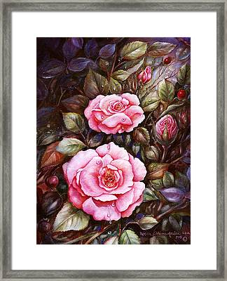 Rambling Rose Framed Print