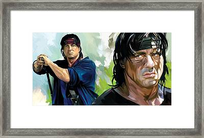 Rambo Artwork Framed Print by Sheraz A