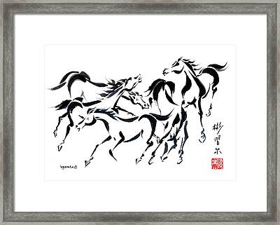 Framed Print featuring the painting Rambunctious by Bill Searle