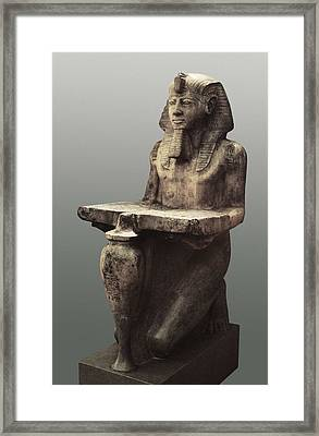 Ramesses II With The Table Of Abydoss Framed Print by Everett