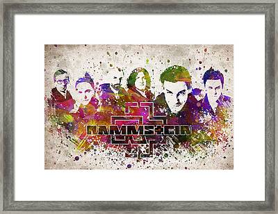 Rammstein In Color Framed Print