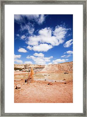 Ramon Crater Framed Print by Photostock-israel