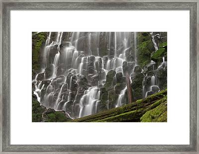 Ramona Falls In Clackamas County, Oregon Framed Print