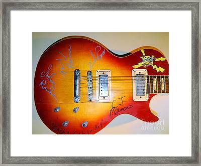Ramones Guitar Framed Print by Ed Weidman