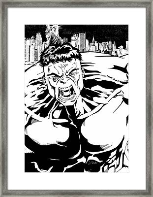 Rampaging Framed Print by Mark Rogan