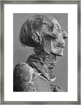 Ramses II Mummy Framed Print