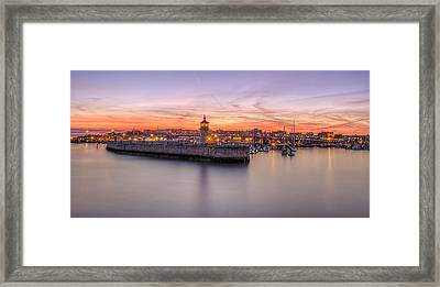 Ramsgate Harbour Summer Sunset  Framed Print