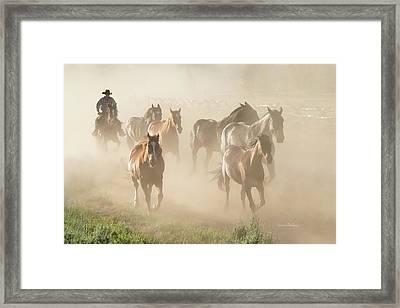 Ranch Horses Framed Print by Ramona Murdock
