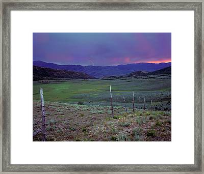 Ranch Land Framed Print by Leland D Howard