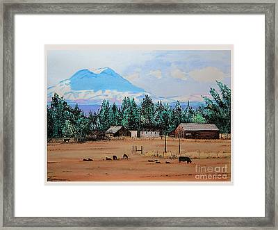 Ranch Near Sisters Oregon Framed Print by Joseph Juvenal