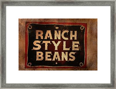 Ranch Style Beans Framed Print