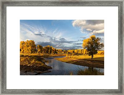 Ranch Sunset Framed Print