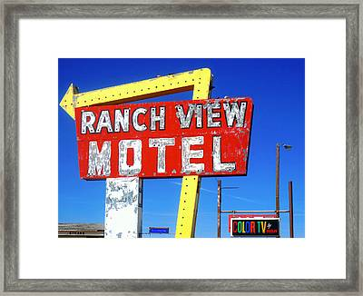 Ranch View Motel Framed Print by Gia Marie Houck