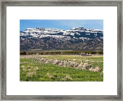 Ranching In Modoc Framed Print by Kathleen Bishop