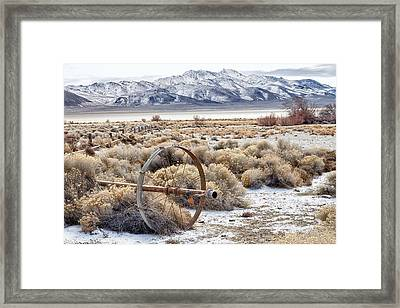 Ranching The Black Rock Framed Print