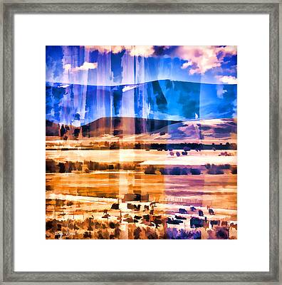 Ranchland Abstracted  Framed Print