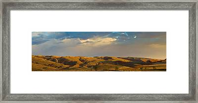 Ranchland In Late Afternoon, Wyoming Framed Print by Panoramic Images