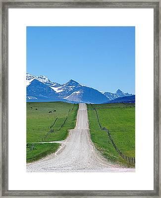 Ranchland Road Framed Print by Janet Ashworth