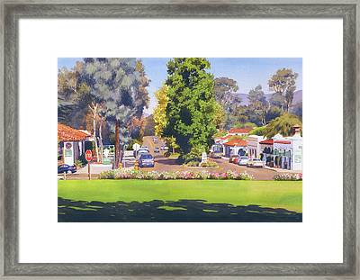 Rancho Santa Fe California Framed Print by Mary Helmreich
