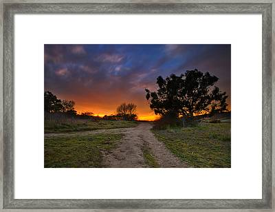 Rancho Santa Fe Sunset Framed Print by Larry Marshall