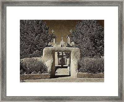Ranchos Gate On Rice Paper Framed Print by Charles Muhle