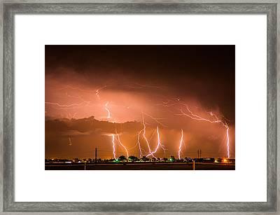 Randall Lightning Framed Print