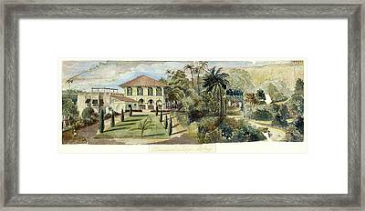 Randall Lodge Complex In Bombay Framed Print by British Library