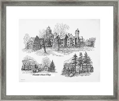 Randolph Macon College Framed Print by Liz  Bryant